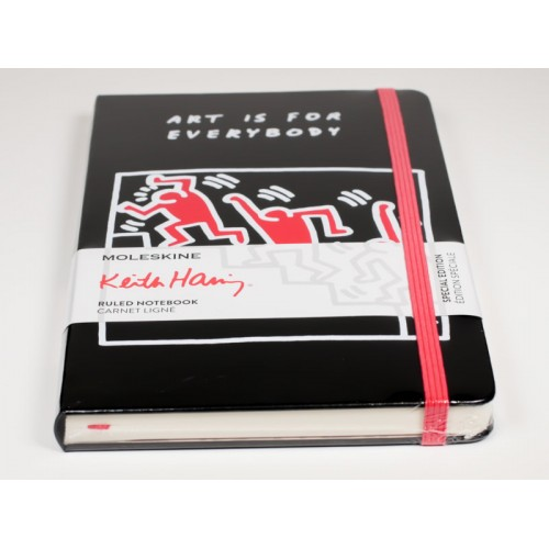 Moleskine Limited Edition Keith Haring, Notebook, Large, Ruled, Black (5 X 8.25)